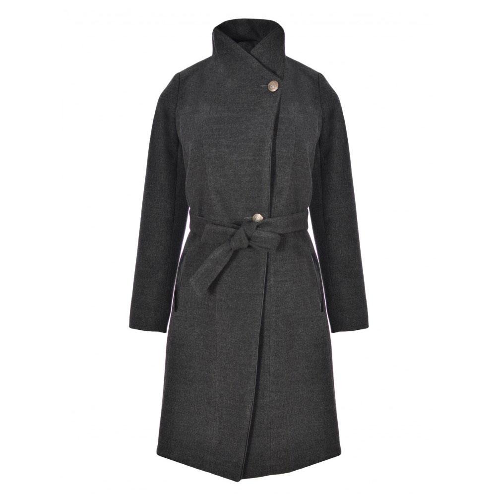 palton gri matlasat