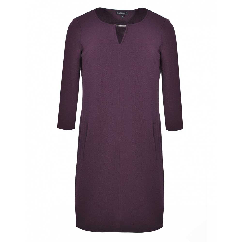 rochie midi cu maneci trei sferturi
