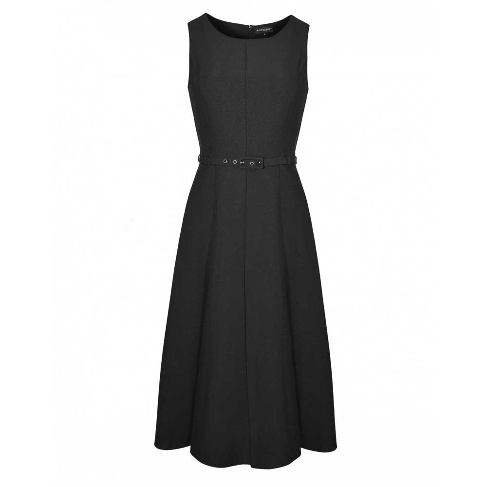rochie neagra cu curea