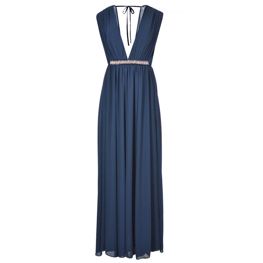 rochie lunga albastra de ocazie