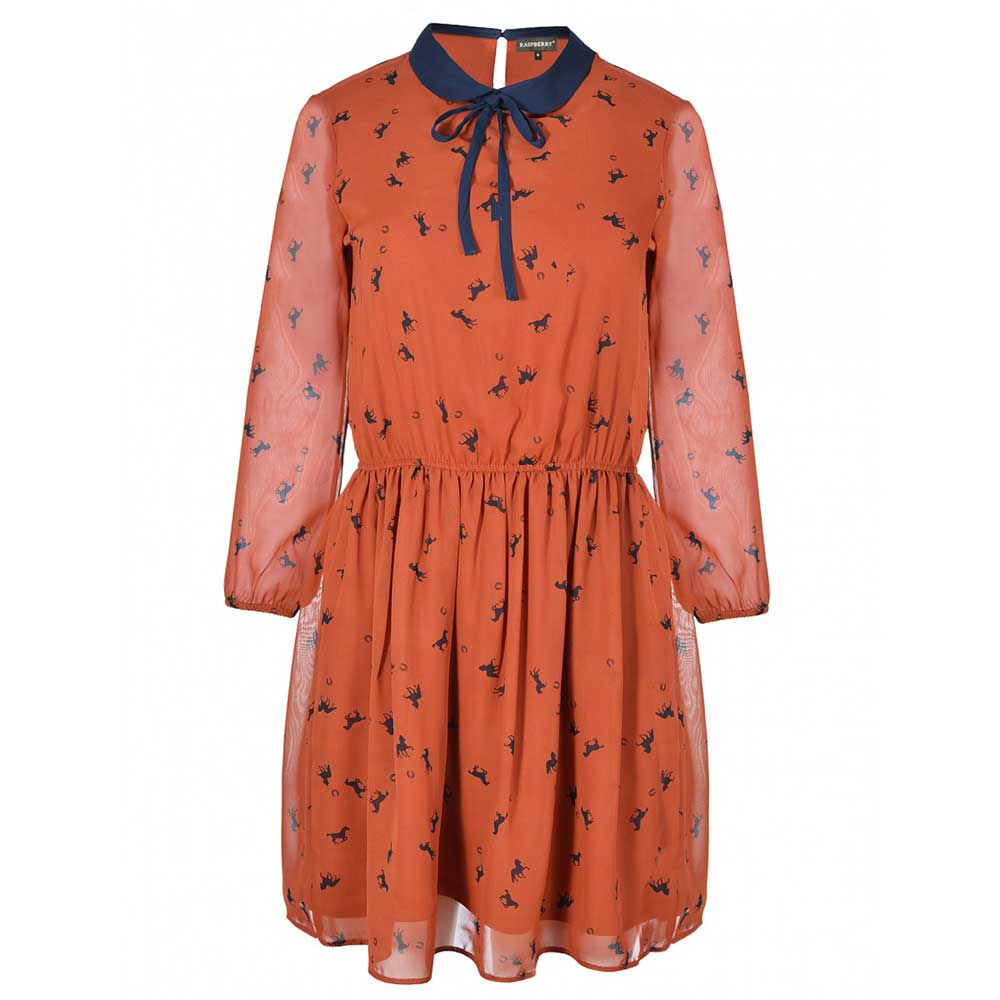 rochie imprimata cu guler