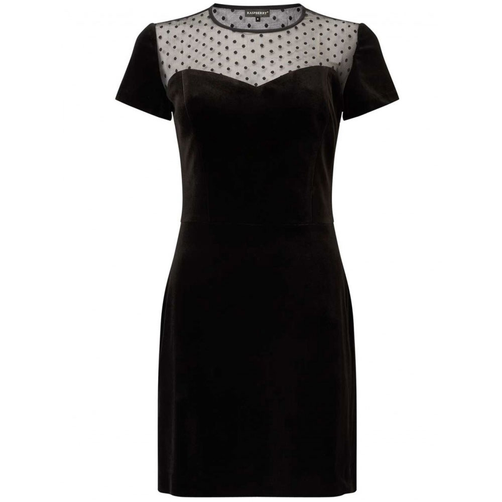 rochie neagra cu dantela