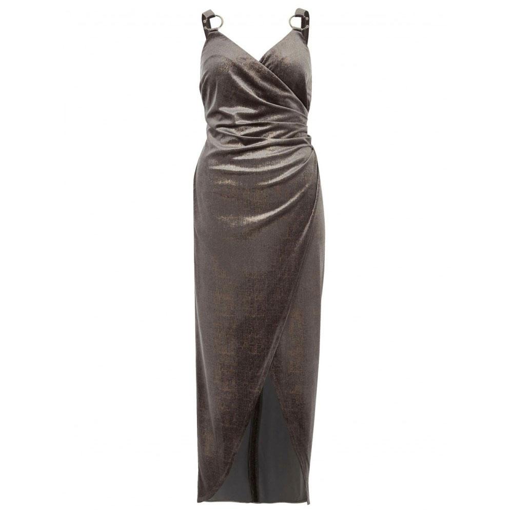 rochie argintie de catifea
