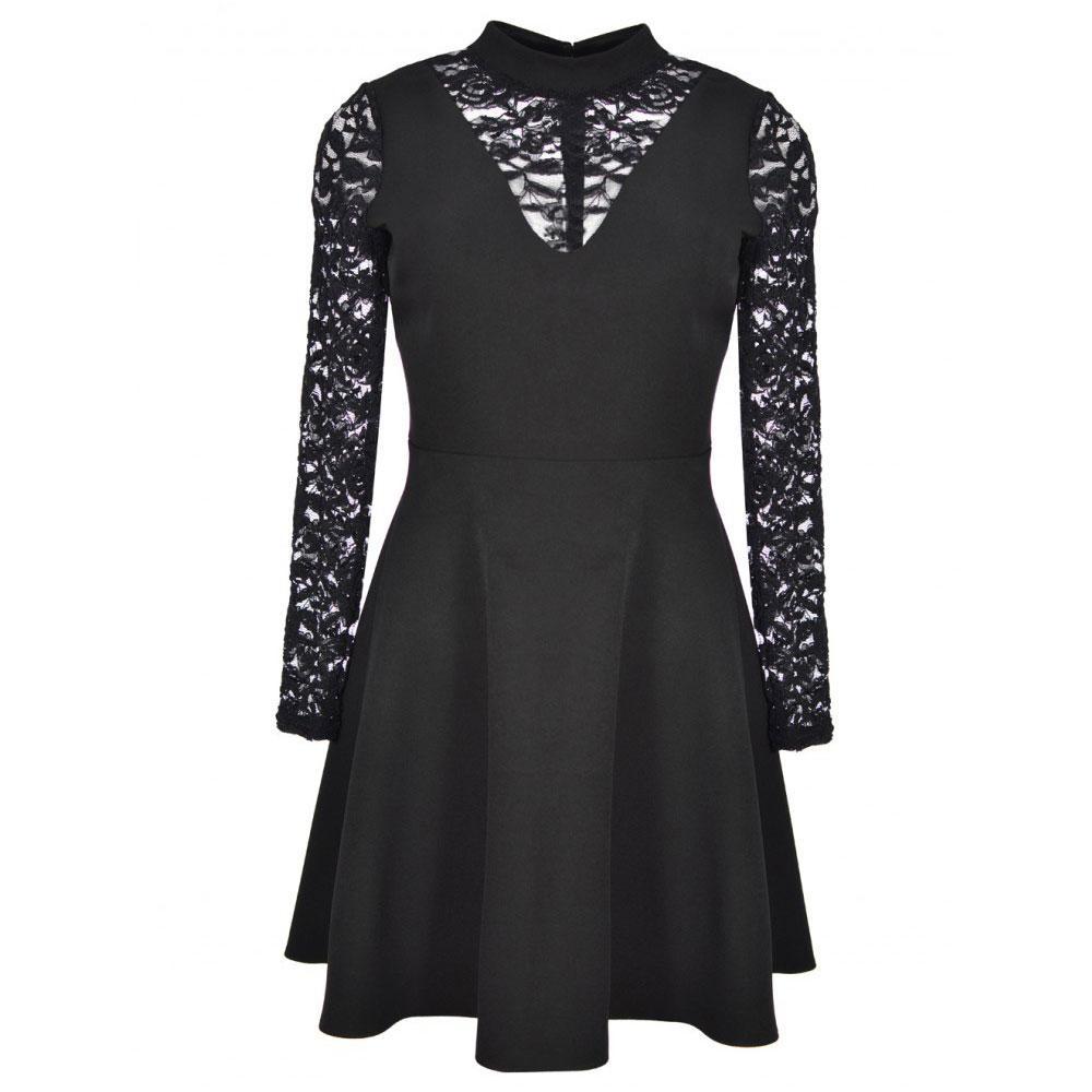 rochie cu dantela neagra