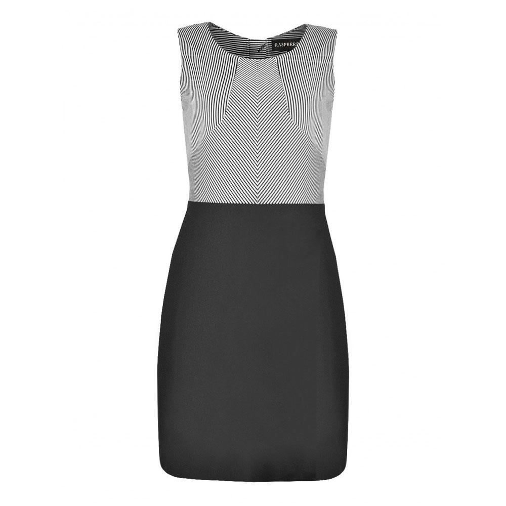 rochie neagra bicolora
