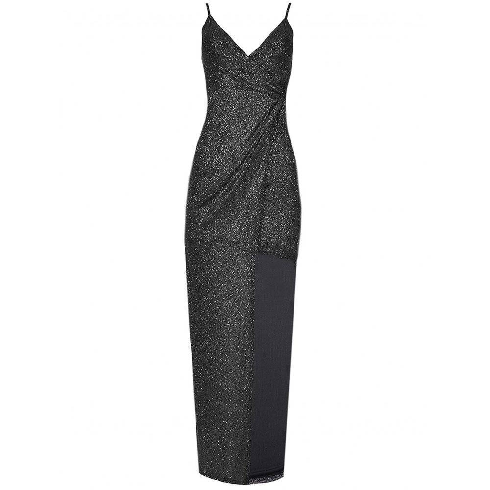 rochie lunga de ocazie cu sclipici