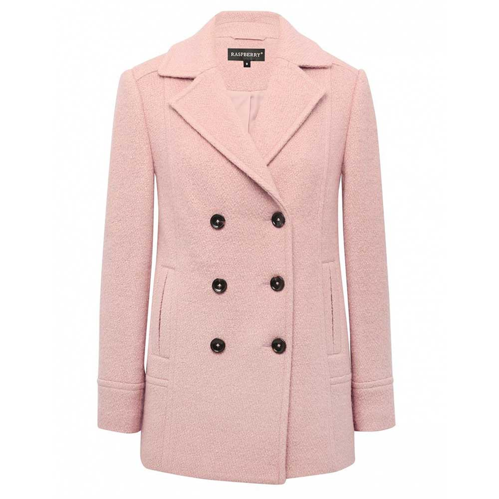 palton roz cu nasturi
