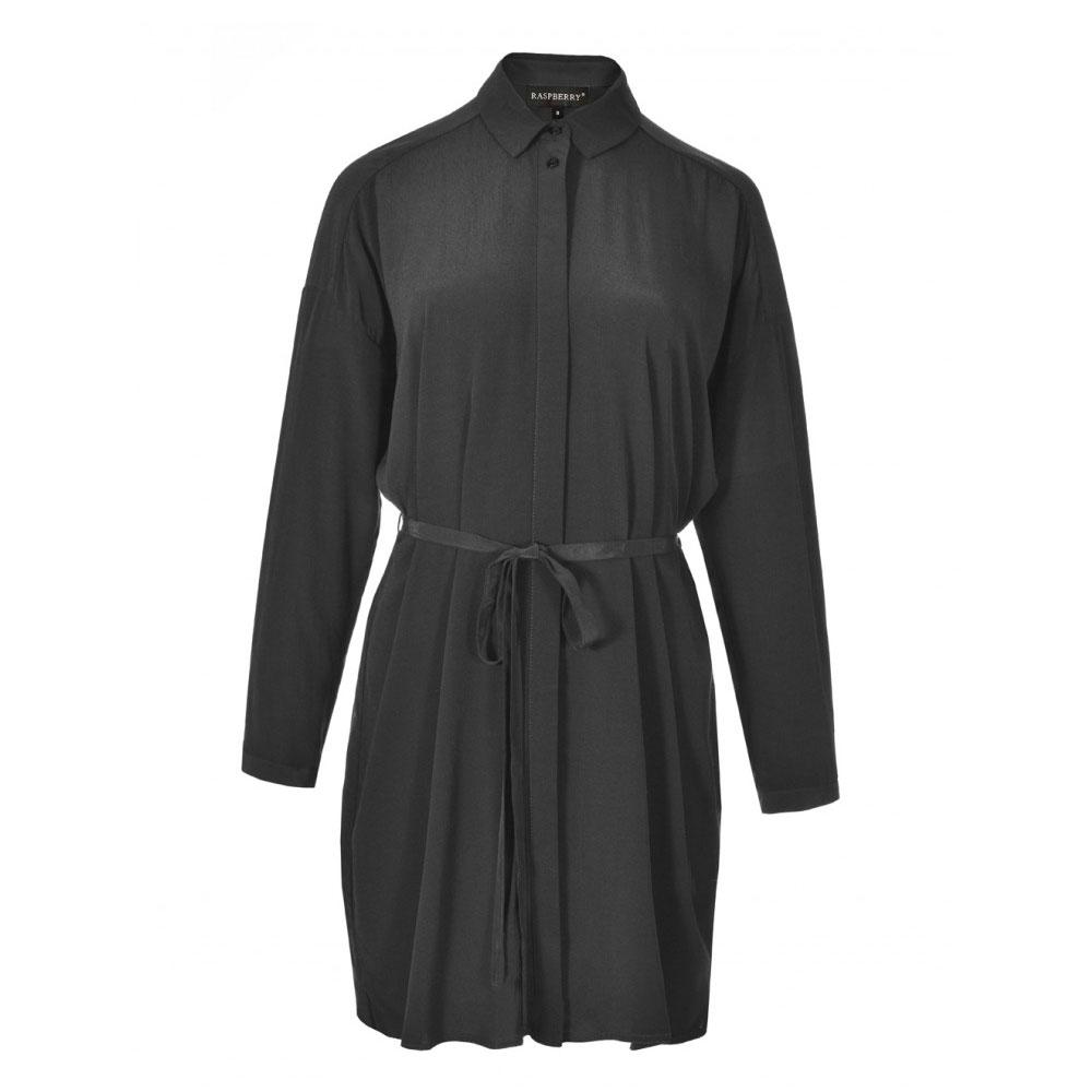 rochie neagra cu cordon