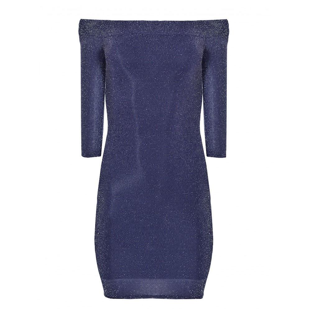 rochie sclipitoare bleumarin
