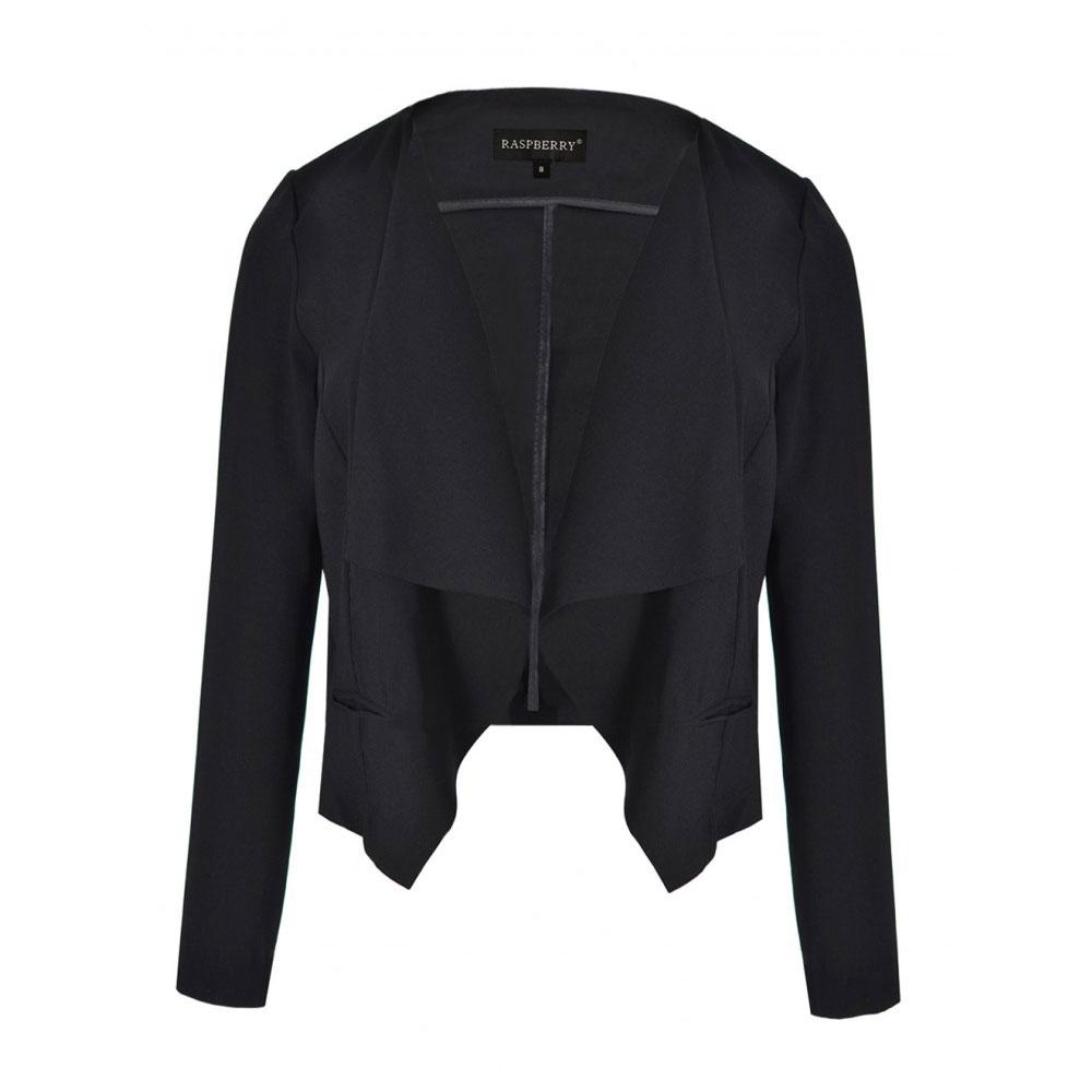 blazer negru asimetric