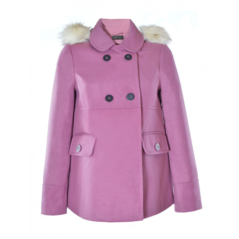 palton lila cu gluga