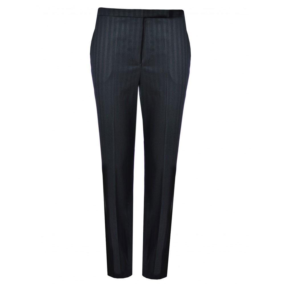 pantaloni negrii cu dungute