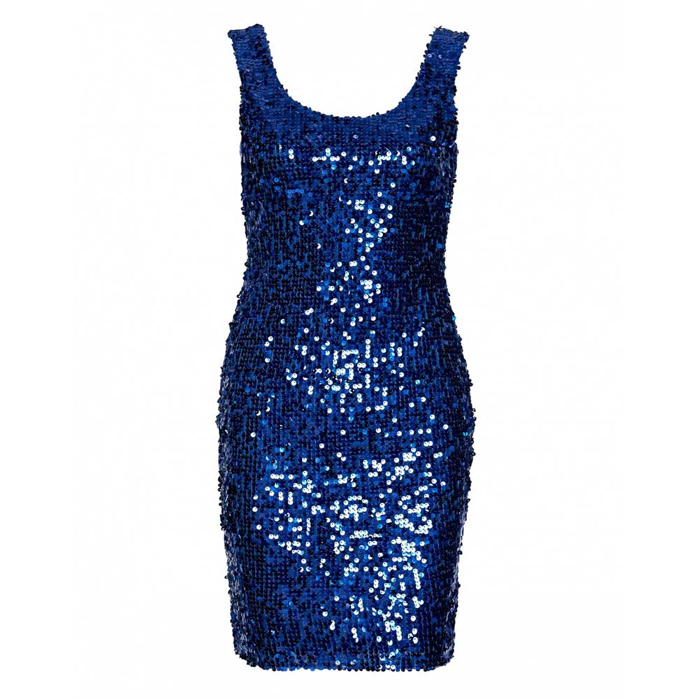 rochie bleu sclipitoare