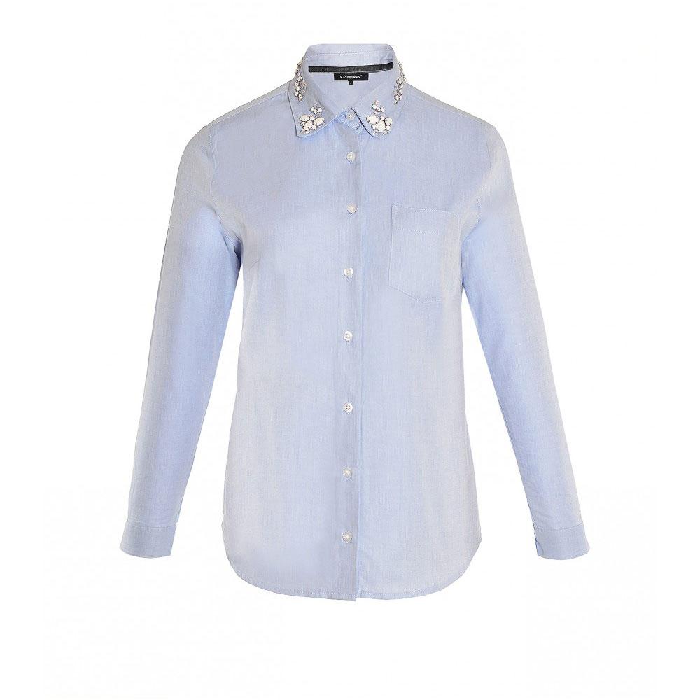 camasa albastra impodobita