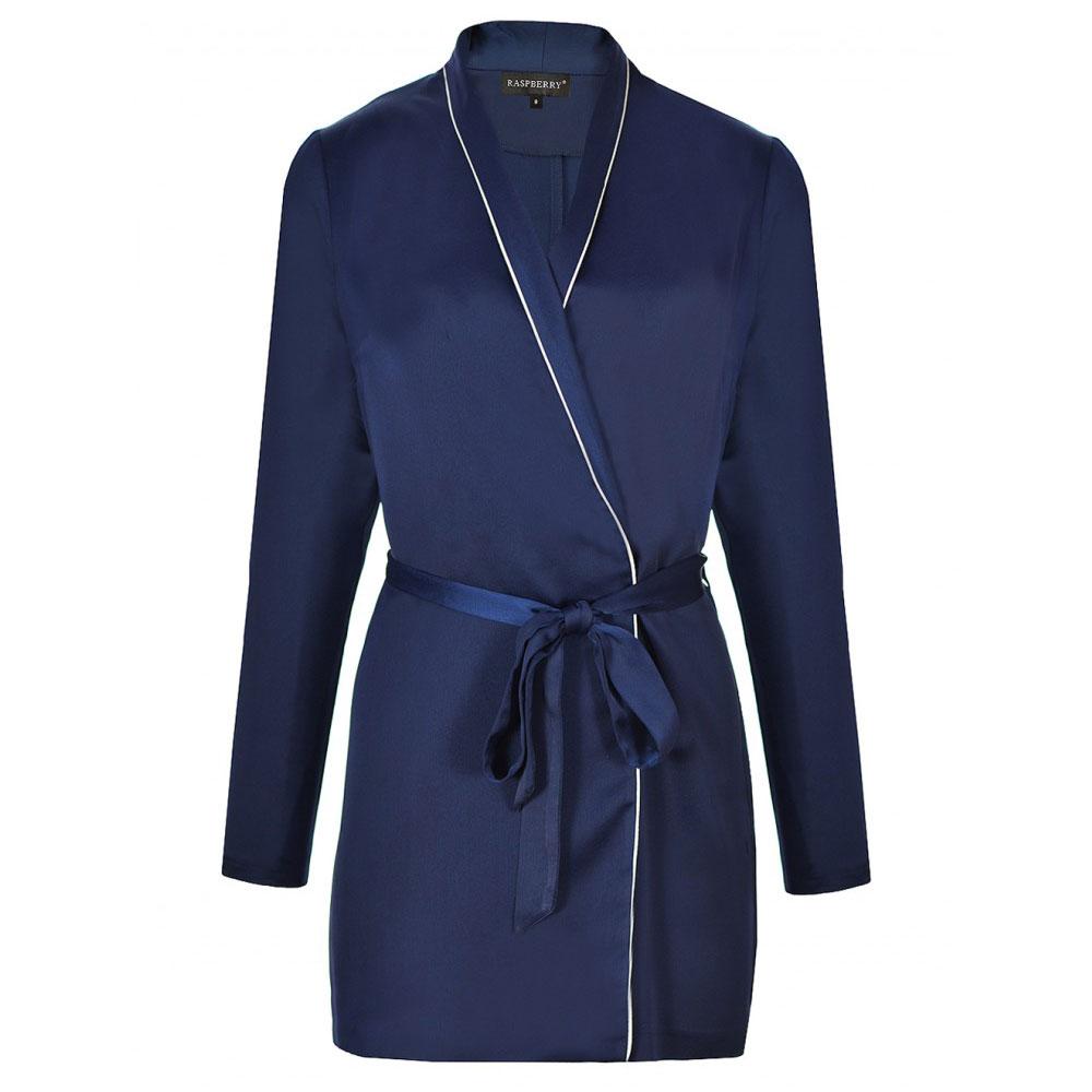 rochie bleumarin din satin