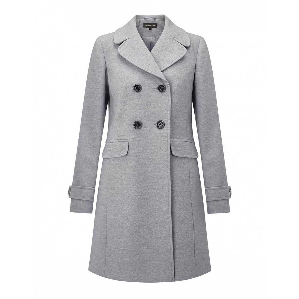 palton gri cu doua randuri nasturi