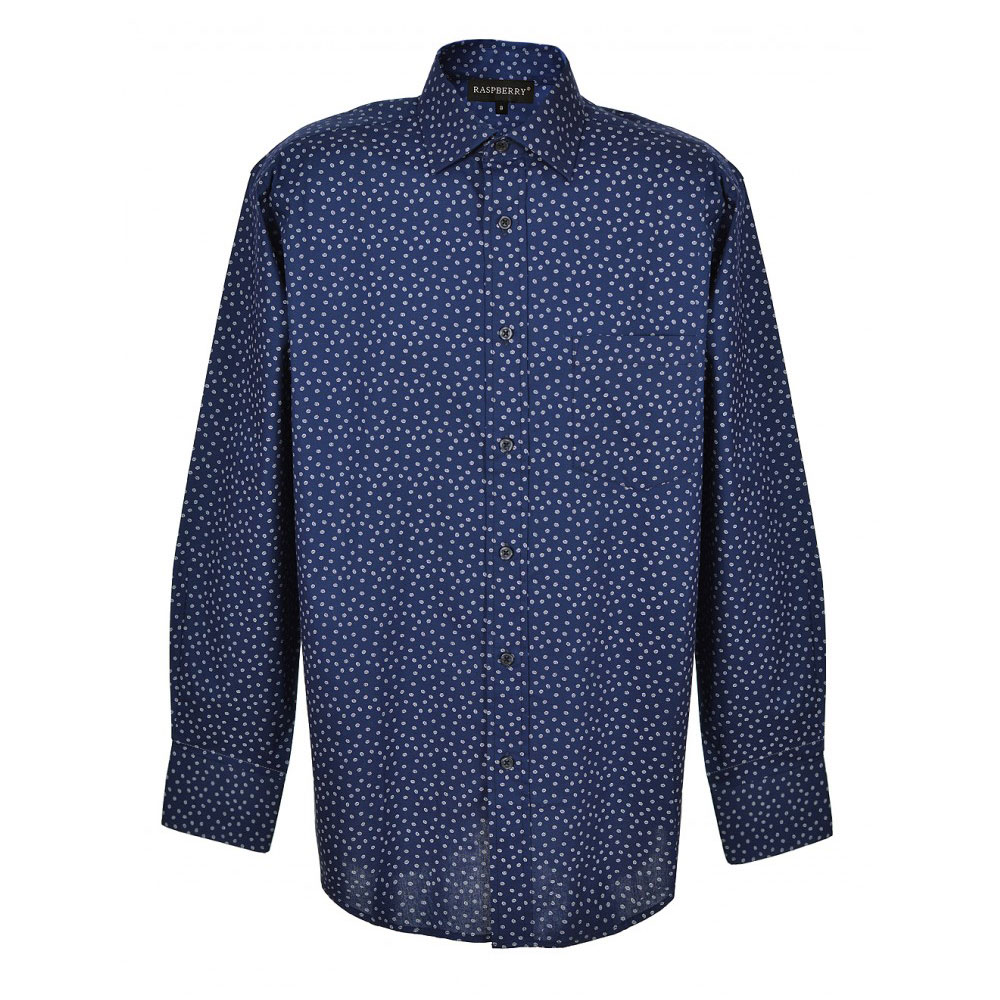 camasa albastra cu picatele