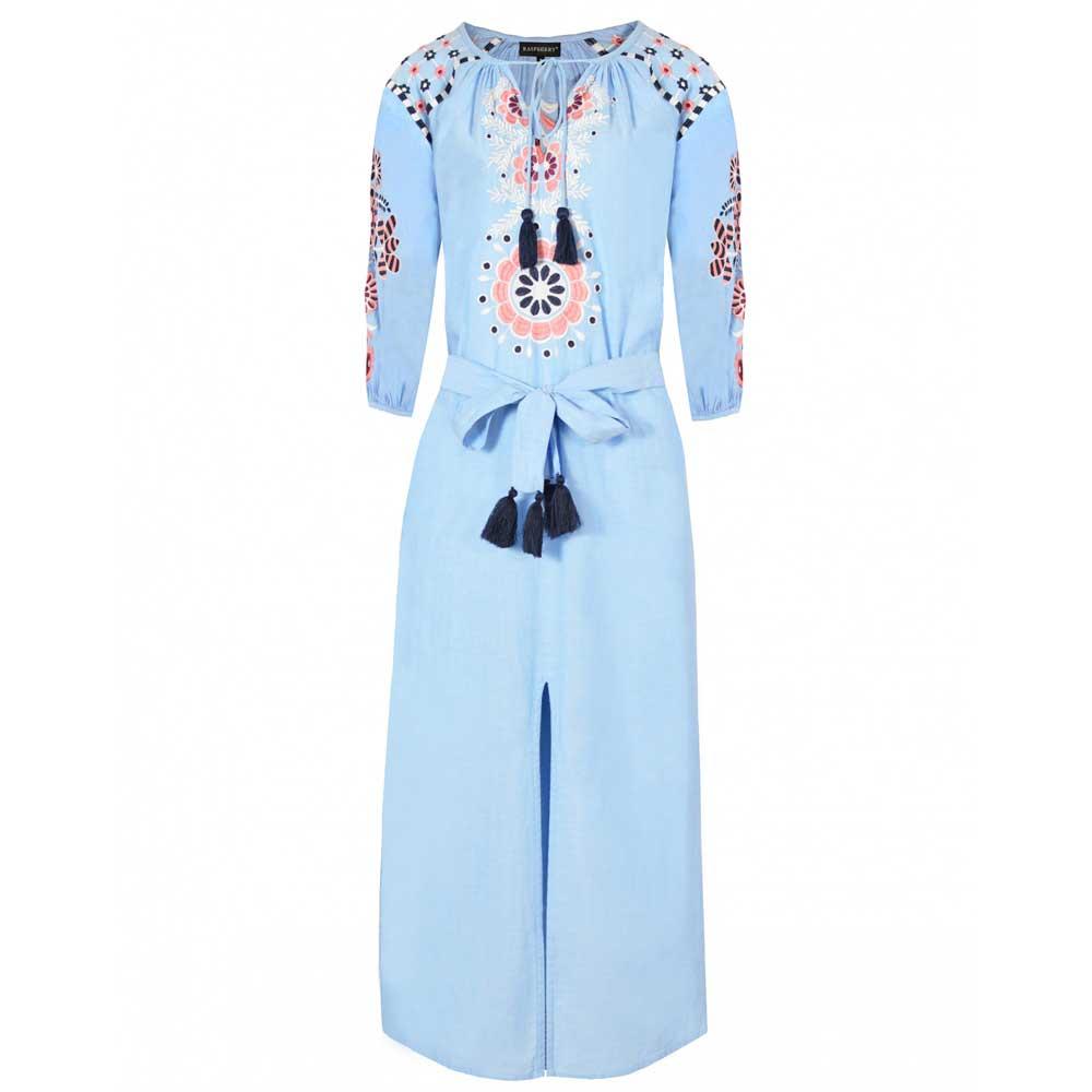 rochie brodata bleu