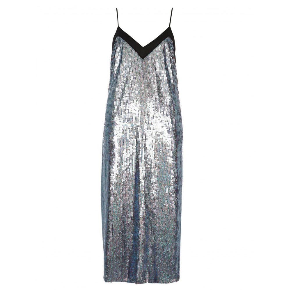rochie lucioasa cu paiete turcoaz
