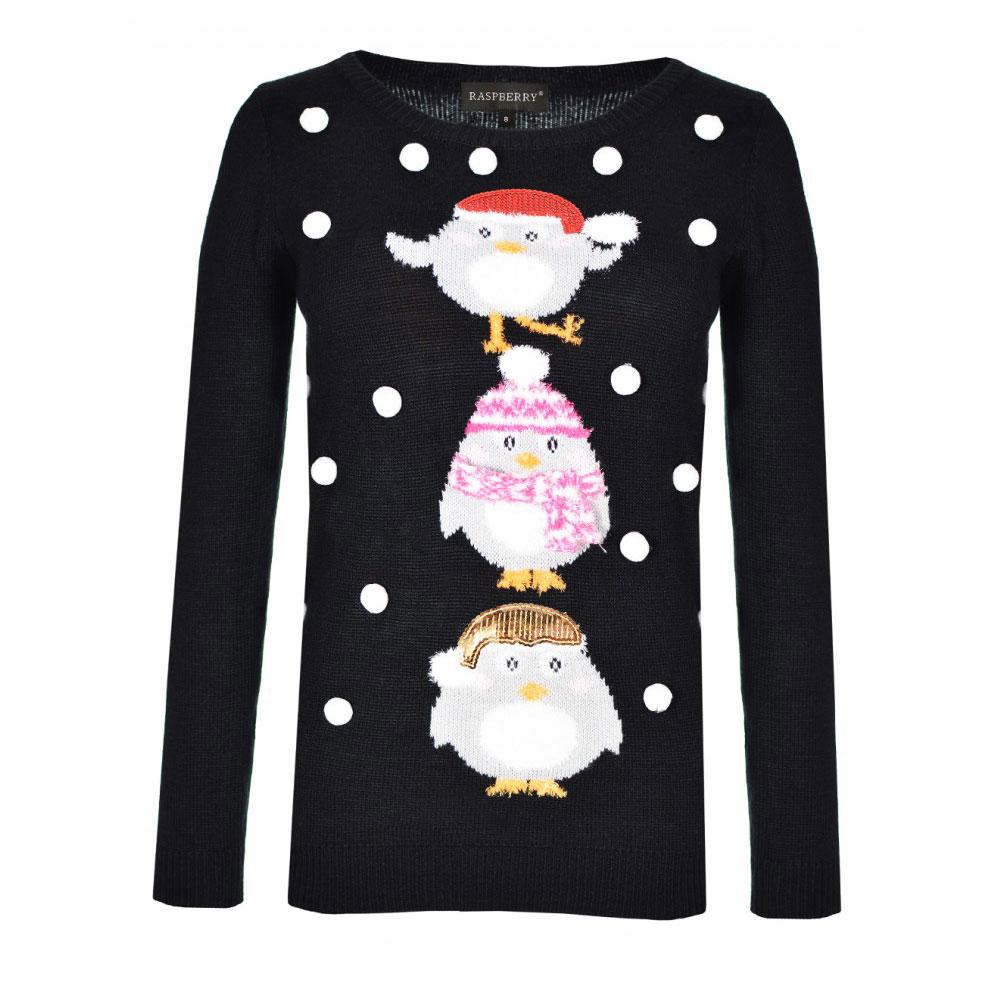 pulover negru imprimat