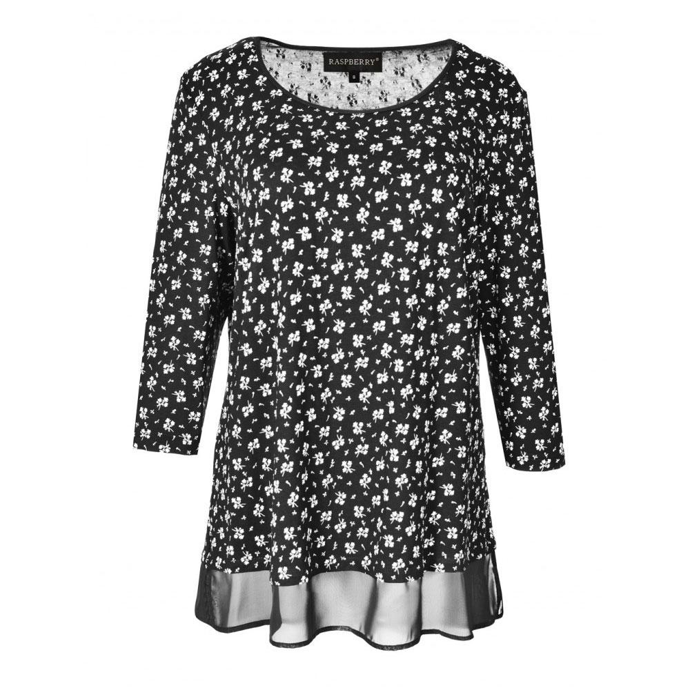 bluza neagra imprimata