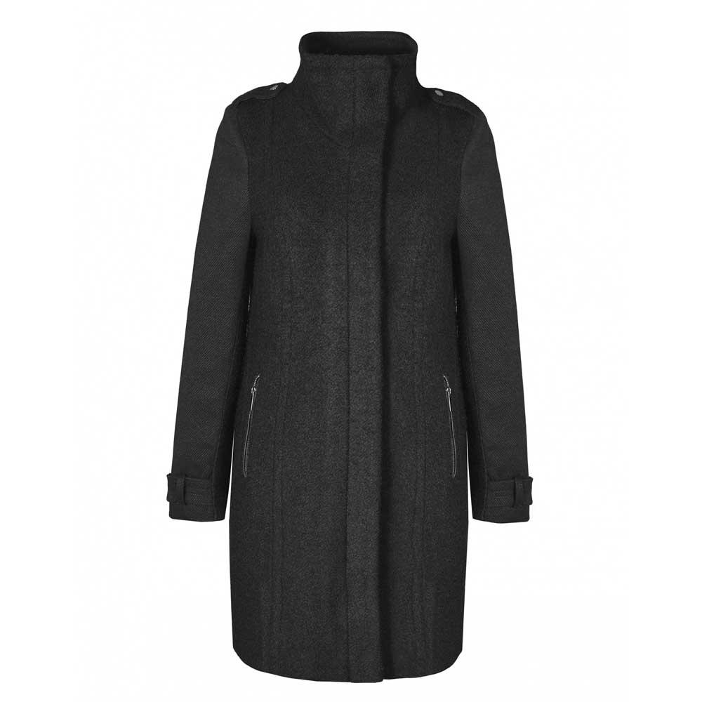 palton cu guler tunica capse si fermoar