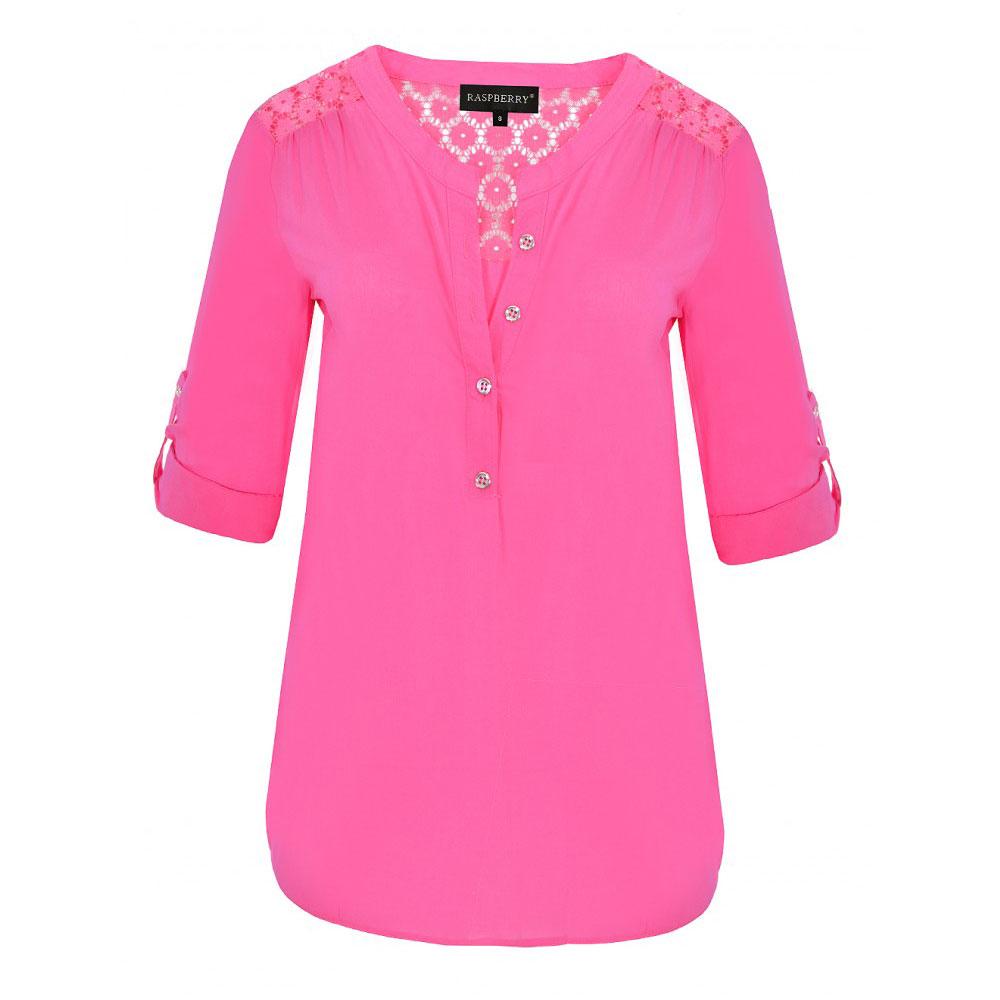 bluza roz cu maneci ajustabile