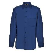 camasa bumbac slim fit albastra