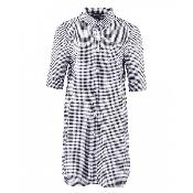 rochie bumbac cu maneci lungi ajustabile