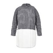 Bluza 2 in 1 gri cu dungute