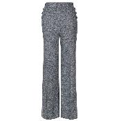 Pantaloni gri cu nasturi