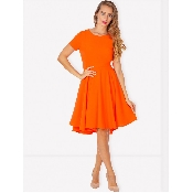 Rochie portocalie cloche