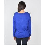 Bluza albastra imprimata