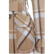 Palton in carouri cu nasturi