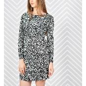 Rochie imprimata cu maneca lunga