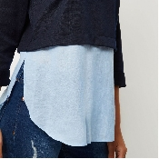 Bluza 2 in 1 bleumarin inchis