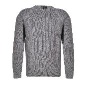 Pulover clasic tricotat gri