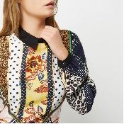 Rochie multicolora imprimata