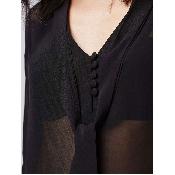 Bluza neagra maneci lungi