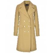 palton cu nasturi aurii si buzunare