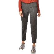 Pantaloni cu dungute maro