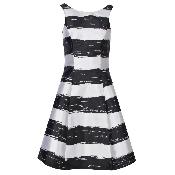Rochie cu dungi negre