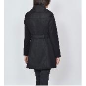 Palton negru cloche