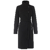 Palton negru matlasat